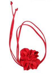 cinturón flor cuero Mod Rojo