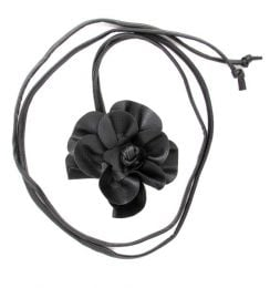 Belts Keychains - leather flower belt CIPO03 - Black Model