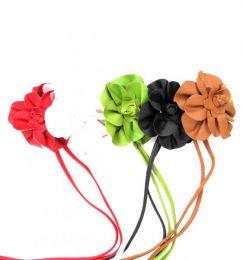 cinturón flor cuero detalle del producto