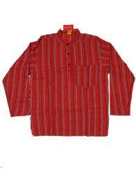 Camisa de algodón de Mod Rojo