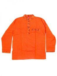 Camisas Hippies M Larga - Camisa de algodón de CLEV04 - Modelo Naranja