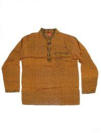 Camisas Hippies M Larga - Camisa de algodón de CLEV04 - Modelo Marrón