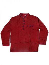 Camisas Hippies M Larga - Camisa de algodón de CLEV04 - Modelo Granate