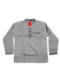 Camisas Hippies M Larga - Camisa de algodón de CLEV04 - Modelo Gris