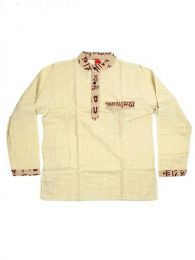 Camisas Hippies M Larga - Camisa de algodón de CLEV04 - Modelo Natural