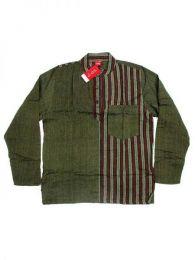 Camisa de algodón combinado Mod Verde