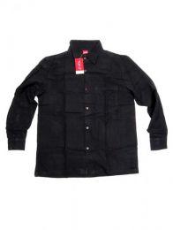 Camisa de lisa algodón Mod Negro