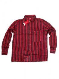 Shirts Hippies M Long - Striped cotton shirt CLEV07 - Red Model