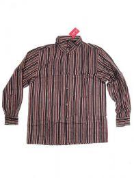Camisa de rayas de algodón Mod Negro