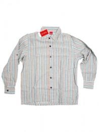 Long-sleeved striped hippie shirt CLEV07 to buy in bulk or in detail in the Alternative Ethnic Hippie Costume category.
