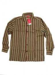 Camisa de rayas de algodón Mod Verde