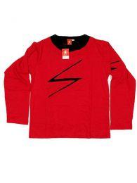 Camiseta de manga larga de Mod Rojo