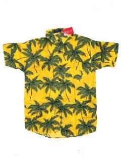 Camisas de Manga Corta - Camisa de hombre de manga CMEK01 - Modelo Amarillo