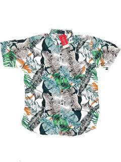Camisa de rayón con estampados de flores CMEK02 para comprar al por mayor o detalle  en la categoría de Outlet Hippie Etnico Alternativo | ZAS Tienda Hippie.