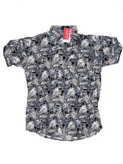 Camisas de Manga Corta - Camisa de hombre de manga CMEK03 - Modelo Gris