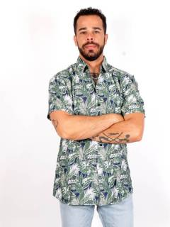 Hippies Shirts M Short - Rayon shirt with flower patterns [CMEK03] to buy in bulk or in detail in the category of Alternative Hippie Clothing for Men.