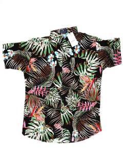 Camisas Hippies M Corta - Camisa de hombre de manga CMEK04 - Modelo M2