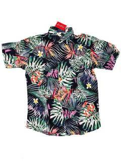 Camisas Hippies M Corta - Camisa de hombre de manga CMEK04 - Modelo M3