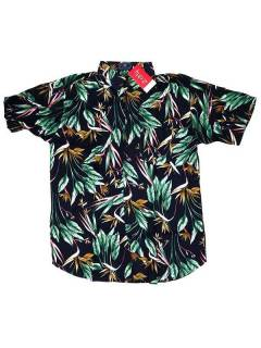 Short Sleeve Shirts - Rayon shirt with flower prints [CMEK07] to buy wholesale or detail in the category of Hippie Clothing for Men.