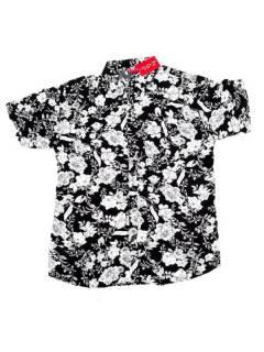 Camisas de Manga Corta - Camisa de hombre de manga CMEK08 - Modelo Negro