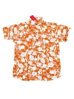 Camisas de Manga Corta - Camisa de hombre de manga CMEK08 - Modelo Naranja
