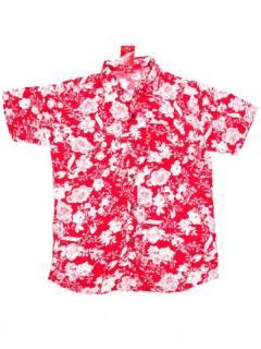 Camisas de Manga Corta - Camisa de hombre de manga CMEK08 - Modelo Rojo