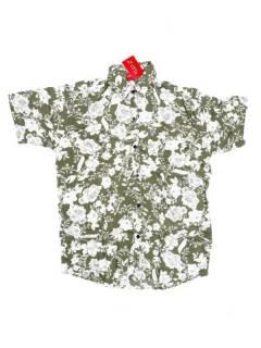 Camisas de Manga Corta - Camisa de hombre de manga CMEK08 - Modelo Verde
