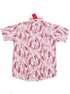 Camisas de Manga Corta - Camisa de hombre de manga CMEK09 - Modelo Rojo