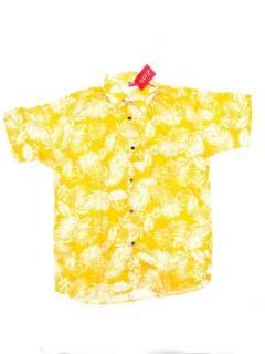 Camisas de Manga Corta - Camisa de hombre de manga CMEK10 - Modelo Amarillo