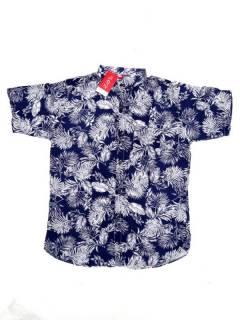 Camisas de Manga Corta - Camisa de hombre de manga CMEK10 - Modelo Azul