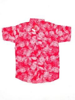 Camisas de Manga Corta - Camisa de hombre de manga CMEK10 - Modelo Rojo