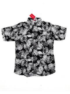 Camisas de Manga Corta - Camisa de hombre de manga CMEK10 - Modelo Negro