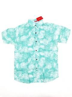 Camisas de Manga Corta - Camisa de hombre de manga CMEK10 - Modelo Azul cl