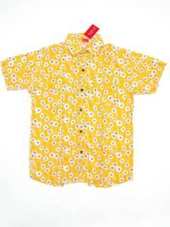 Camisas de Manga Corta - Camisa de hombre de manga CMEK11 - Modelo Amarillo