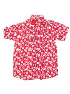Camisas de Manga Corta - Camisa de hombre de manga CMEK11 - Modelo Rojo