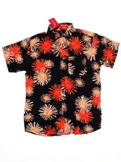 Camisas de Manga Corta - Camisa de hombre de manga CMEK12 - Modelo Naranja