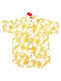 Camisas de Manga Corta - Camisa de hombre de manga CMEK13 - Modelo Amarillo