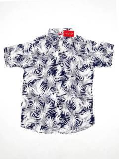 Camisas de Manga Corta - Camisa de hombre de manga CMEK13 - Modelo Azul