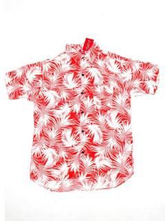 Camisas de Manga Corta - Camisa de hombre de manga CMEK13 - Modelo Rojo