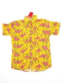 Camisas de Manga Corta - Camisa de hombre de manga CMEK14 - Modelo Amarillo