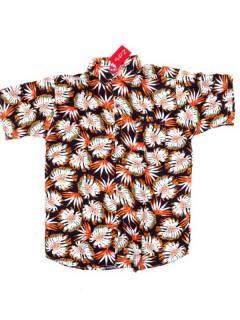 Camisas de Manga Corta - Camisa de hombre de manga CMEK15 - Modelo Naranja