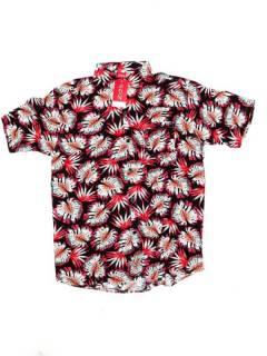 Camisas de Manga Corta - Camisa de hombre de manga CMEK15 - Modelo Rojo2
