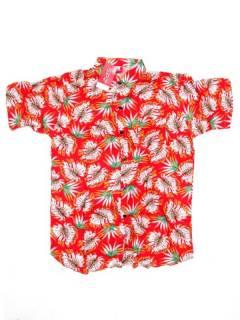 Camisas de Manga Corta - Camisa de hombre de manga CMEK15 - Modelo Rojo