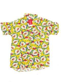 Camisas de Manga Corta - Camisa de hombre de manga CMEK15 - Modelo Amarillo