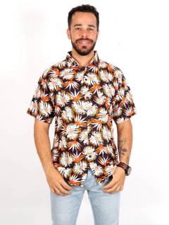 Camicia in rayon con stampe floreali, da acquistare all'ingrosso o dettaglio nella categoria Hippie e Abbigliamento Alternativo per Uomo | ZAS Hippie Store. [CMEK15]