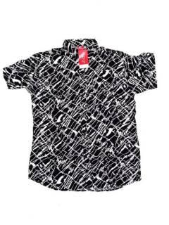 Camisas de Manga Corta - Camisa de hombre de manga CMEK18 - Modelo Negro