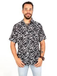 Camicia in rayon con stampe floreali, da acquistare all'ingrosso o dettaglio nella categoria Hippie e Abbigliamento Alternativo per Uomo | ZAS Hippie Store. [CMEK18]