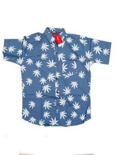 Camisas de Manga Corta - Camisa de hombre de manga CMEK20 - Modelo Azul p