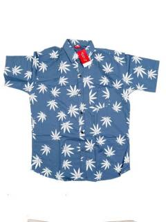 Camisa Hojas de Marihuana Grandes CMEK20 para comprar al por mayor o detalle  en la categoría de Ropa Hippie y Alternativa para Hombre | ZAS Tienda Hippie.