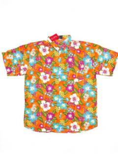 Camisas de Manga Corta - Camisa de hombre de manga CMEK21 - Modelo Naranja